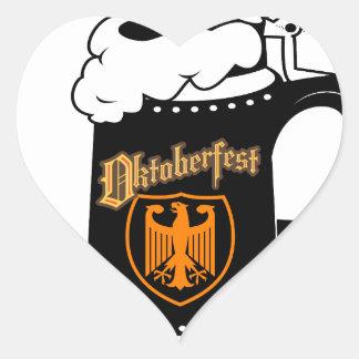 Oktoberest Beer Stein Heart Sticker