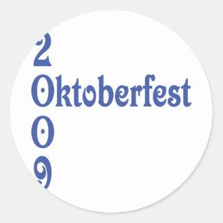 oktoberfest 2009 classic round sticker