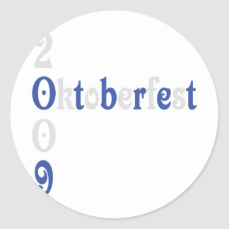 oktoberfest 2009 icon round stickers