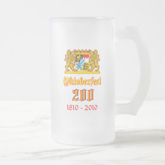 Oktoberfest 200 frosted glass beer mug
