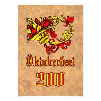 "Oktoberfest 200 YearsCelebration Invitación 5"" X 7"""