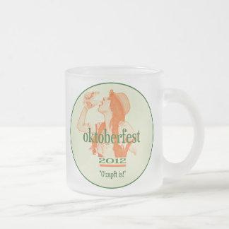 OKTOBERFEST 2012 BEER MUG! FROSTED GLASS COFFEE MUG