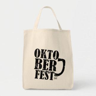 Oktoberfest 2012 - Black distressed Canvas Bag