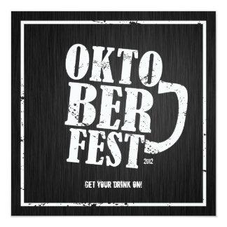 Oktoberfest 2012 - Blanco apenado Invitación 13,3 Cm X 13,3cm