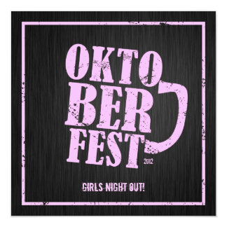 Oktoberfest 2012 - Girls night out Card