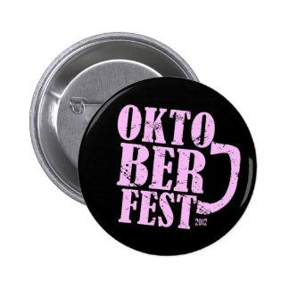 Oktoberfest 2012 - Pink distressed Button