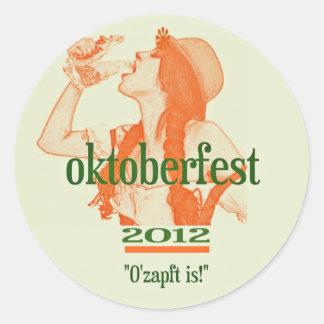 OKTOBERFEST 2012.png Classic Round Sticker