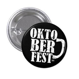 Oktoberfest 2012 - White Distressed Pinback Button