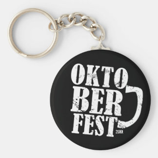Oktoberfest 2013 - Blanco apenado Llavero Personalizado