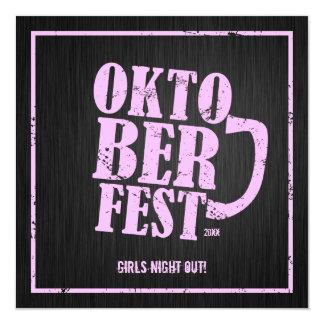 Oktoberfest 2013 - Noche de los chicas hacia fuera Invitación 13,3 Cm X 13,3cm