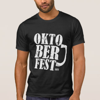 Oktoberfest 2013 - White distressed T-Shirt