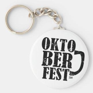 Oktoberfest 2014 - Black distressed Basic Round Button Keychain