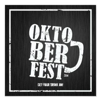 Oktoberfest 2014 - Blanco apenado Invitación 13,3 Cm X 13,3cm