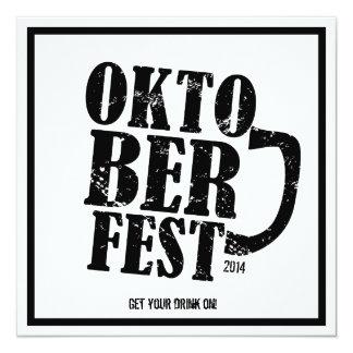 Oktoberfest 2014 invitaciones de consumición del invitación 13,3 cm x 13,3cm