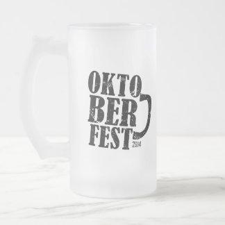 Oktoberfest 2014 16 oz frosted glass beer mug