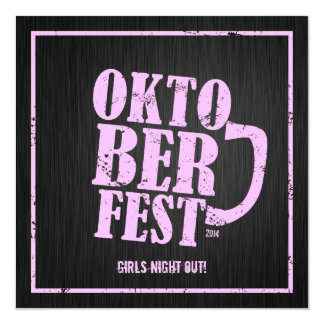 Oktoberfest 2014 - Noche de los chicas hacia fuera Invitación 13,3 Cm X 13,3cm