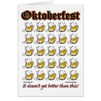 Oktoberfest 25 Beer mugs Greeting Card