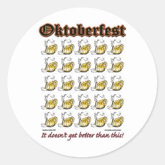 Oktoberfest 25 Beer mugs Round Stickers