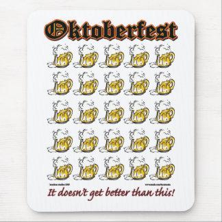 Oktoberfest 25 tazas de cerveza tapete de raton