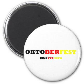 Oktoberfest 2 Inch Round Magnet