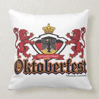 Oktoberfest 2 Lions Throw Pillow