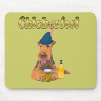 Oktoberfest Airdale Terrier Mousepad Alfombrillas De Ratones