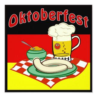 Oktoberfest Alemania Invitación 13,3 Cm X 13,3cm