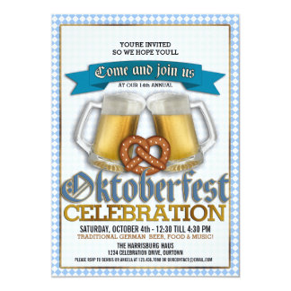 Oktoberfest Annual Celebration Party Invitations