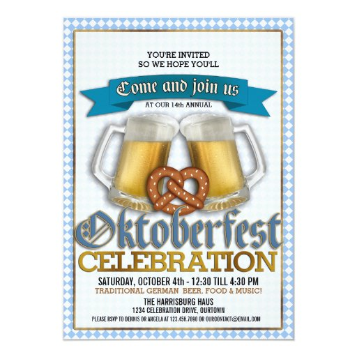 Oktoberfest Annual Celebration Party Invitations