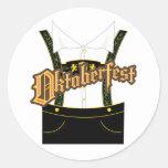 oktoberfest apparel classic round sticker