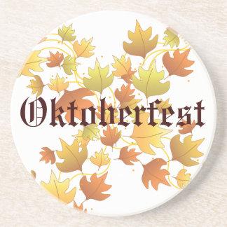 Oktoberfest Autumn Leaves Coaster