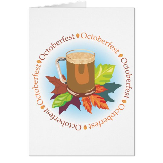 Oktoberfest Badge Card
