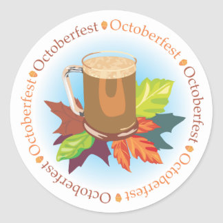 Oktoberfest Badge Classic Round Sticker