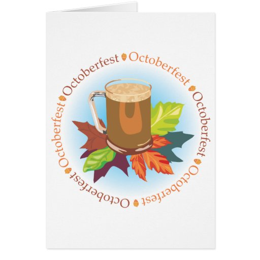Oktoberfest Badge Greeting Card