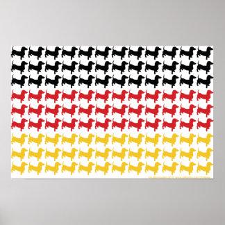 Oktoberfest bandera del Dachshund Poster