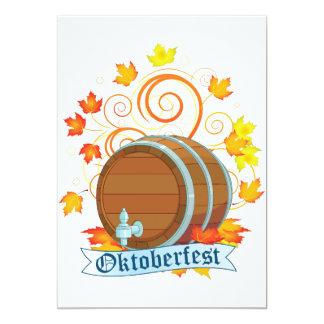 Oktoberfest Barrel Invitations