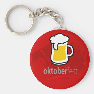 Oktoberfest Basic Round Button Keychain