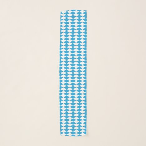 Oktoberfest Bavarian Blue and White Medium Pattern Scarf