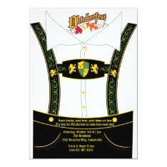 Oktoberfest Bavarian Breeches Invitation at Zazzle