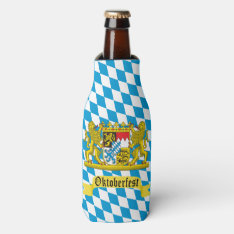 Oktoberfest Bavarian Crest Bottle Cooler at Zazzle