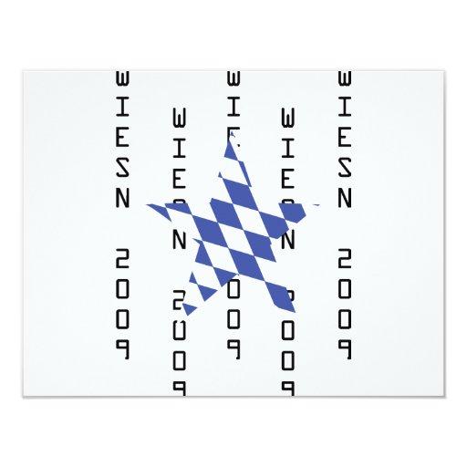Oktoberfest bavarian icon 4.25x5.5 paper invitation card