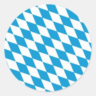 Oktoberfest, Bayern Colors Classic Round Sticker
