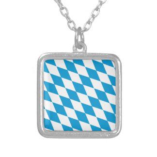 Oktoberfest, Bayern Colors Square Pendant Necklace