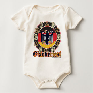 Oktoberfest Beer and Pretzels Baby Bodysuit