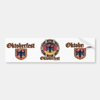 Oktoberfest Beer and Pretzels Car Bumper Sticker