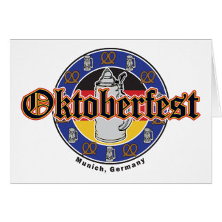 Oktoberfest Beer and Pretzels Card