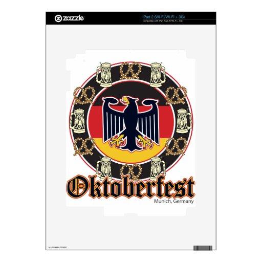 Oktoberfest Beer and Pretzels iPad 2 Decal