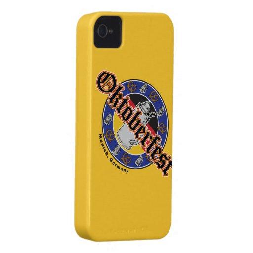 Oktoberfest Beer and Pretzels iPhone 4 Case-Mate Cases
