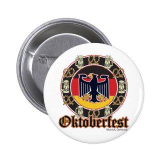 Oktoberfest Beer and Pretzels Pinback Button