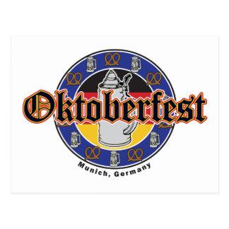Oktoberfest Beer and Pretzels Post Card